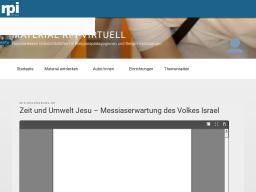 Cover: Zeit und Umwelt Jesu – Messiaserwartung des Volkes Israel – material rpi-virtuell