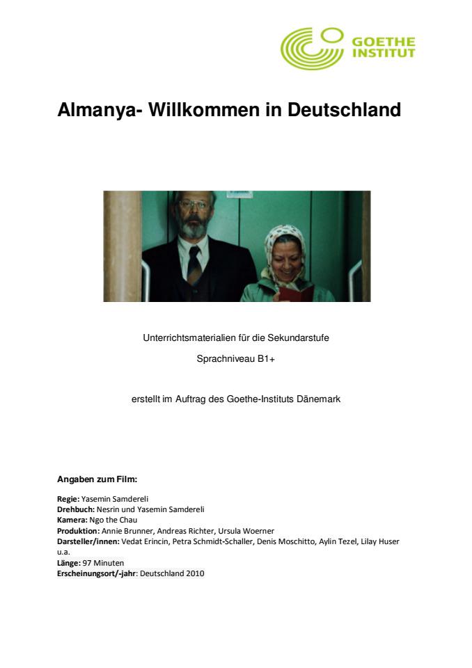 Cover: Almanya - Willkommen in Deutschland - Arbeitsblatt