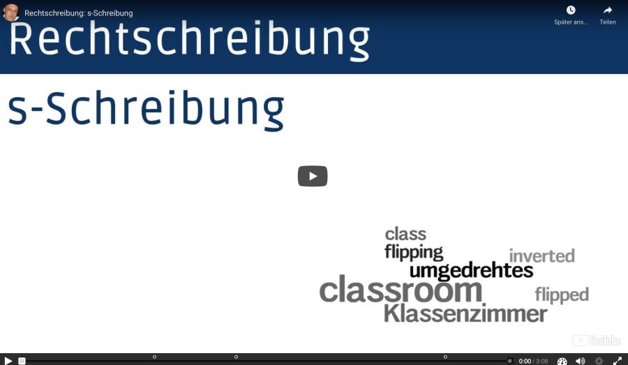 Cover: Interaktives Video zur s-Schreibung