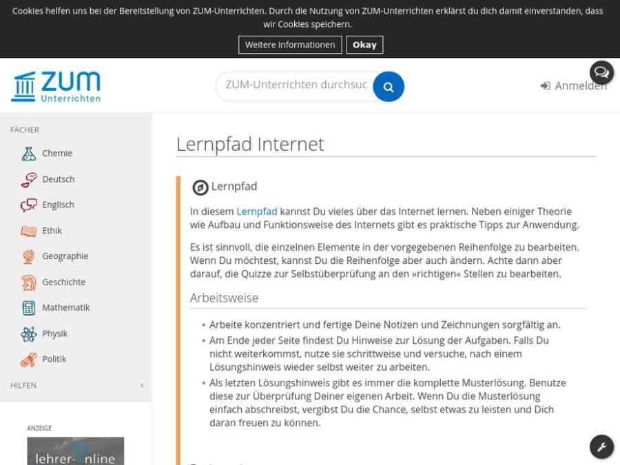 Cover: Lernpfad Internet