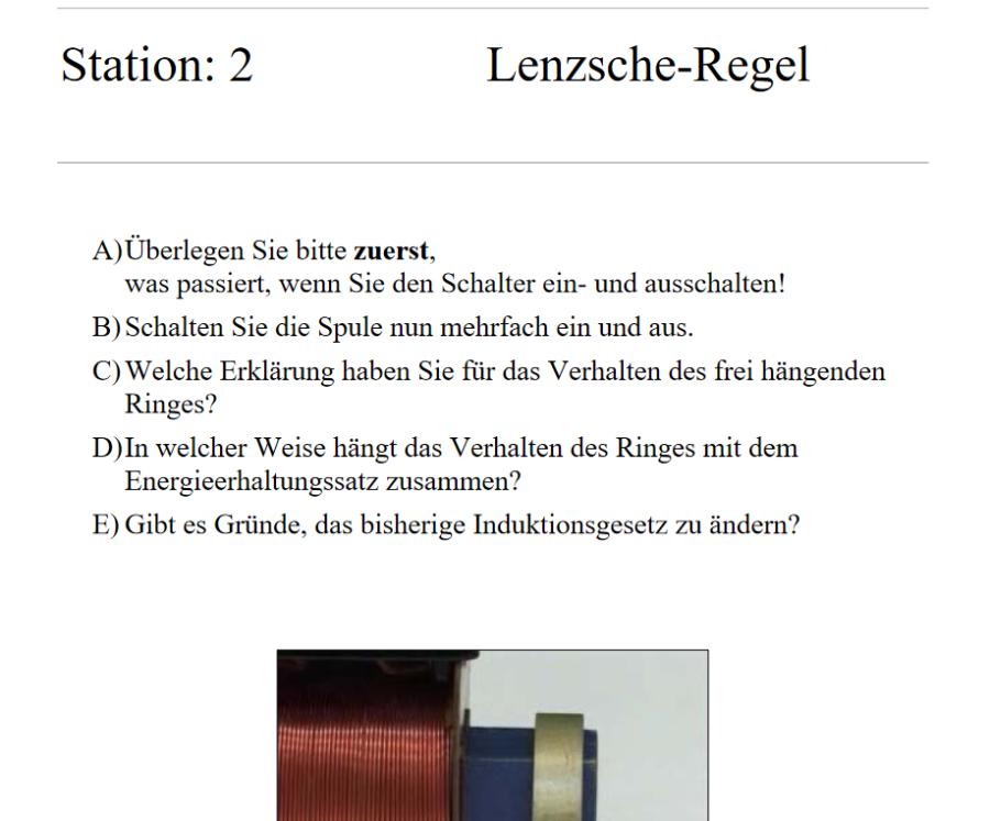 Cover: Stationenlernen: Induktivität und Lenzsche Regel