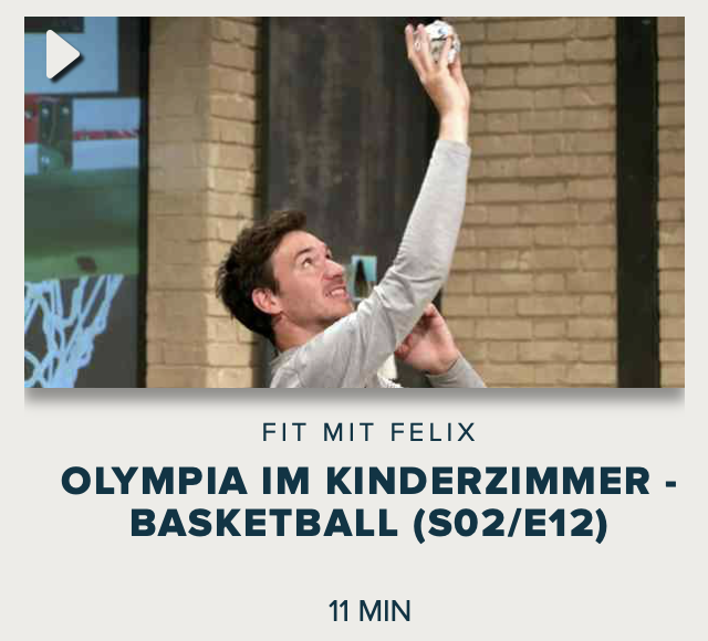 Cover: Fit mit Felix : Olympia im Kinderzimmer - Basketball (S02/E12)
