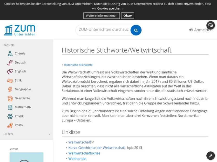 Cover: Weltwirtschaft