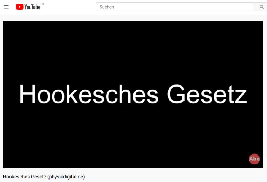 Cover: Hookesches Gesetz (physikdigital.de) - YouTube