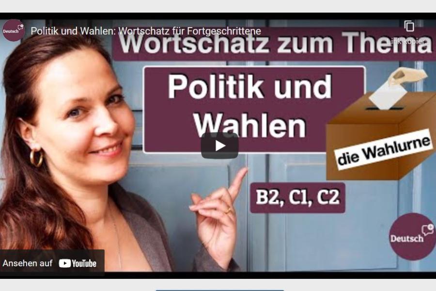 Cover: Politik und Wahlen: Wortschatz für Fortgeschrittene