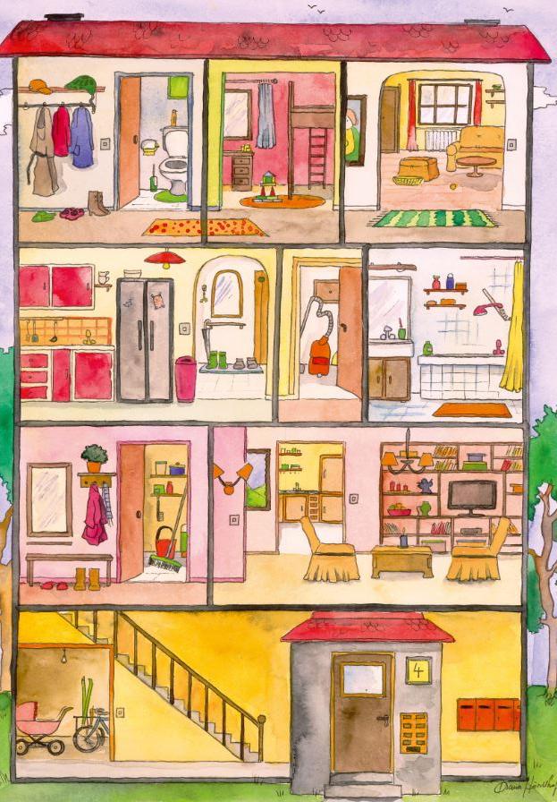 Cover: Wimmelbild   Wohnung