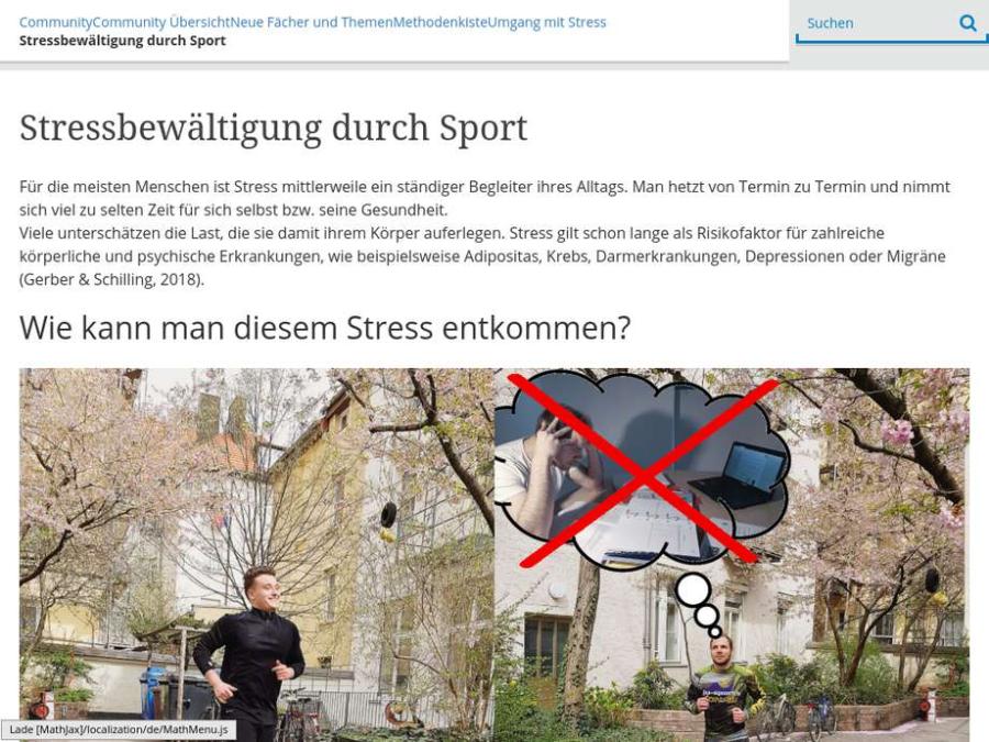 Cover: Stressbewältigung durch Sport