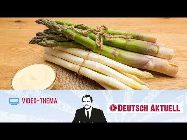 Cover: Spargel: das beliebteste Frühlingsgemüse   Deutsch lernen mit Videos