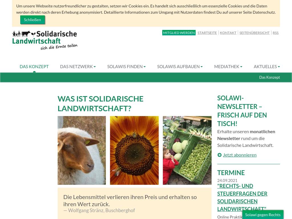 Cover: Das Konzept :: Netzwerk Solidarische Landwirtschaft