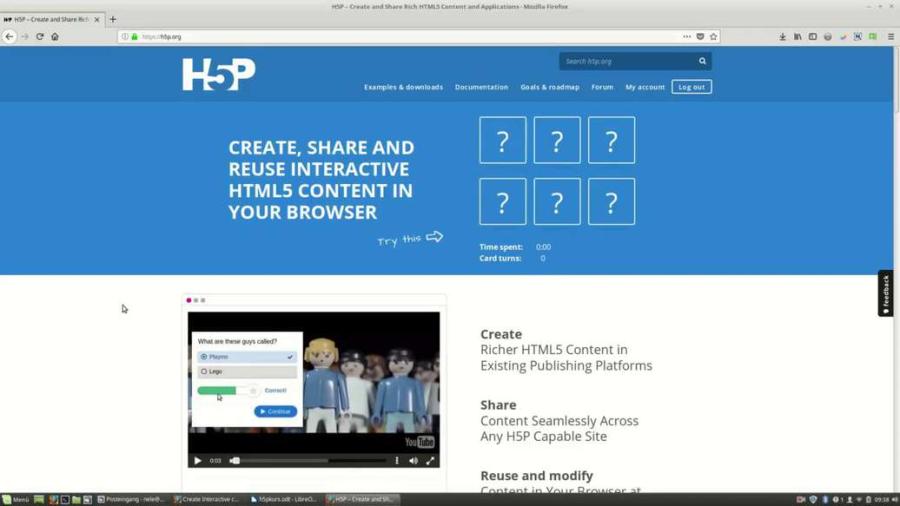 Cover: H5P-Inhaltstyp auswählen