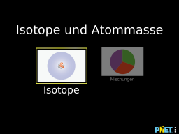Cover: Isotope und Atommasse