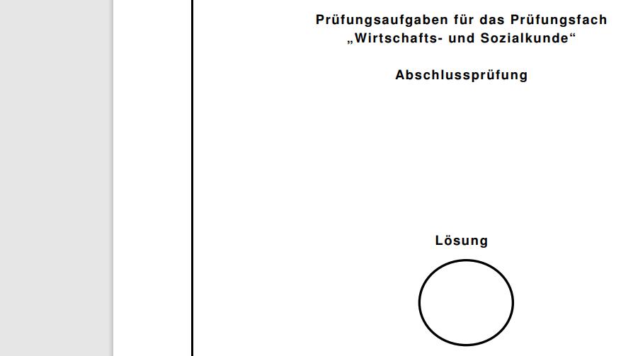"""Cover: Prüfungsaufgaben für das Prüfungsfach  """"Wirtschafts- und Sozialkunde""""  Abschlussprüfung mit Lösungen"""