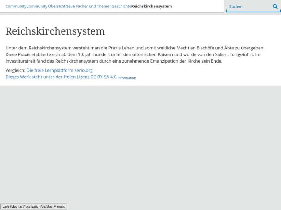 Cover: Reichskirchensystem - Begriffserklärung