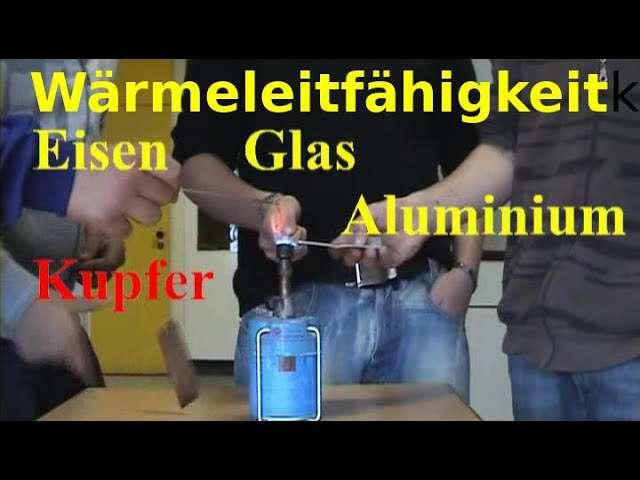 Cover: Wärmeleitfähigkeit: Kupfer, Aluminium, Eisen und Glas im Vergleich