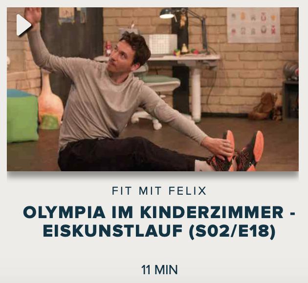 Cover: Fit mit Felix : Olympia im Kinderzimmer - Eiskunstlauf (S02/E18)