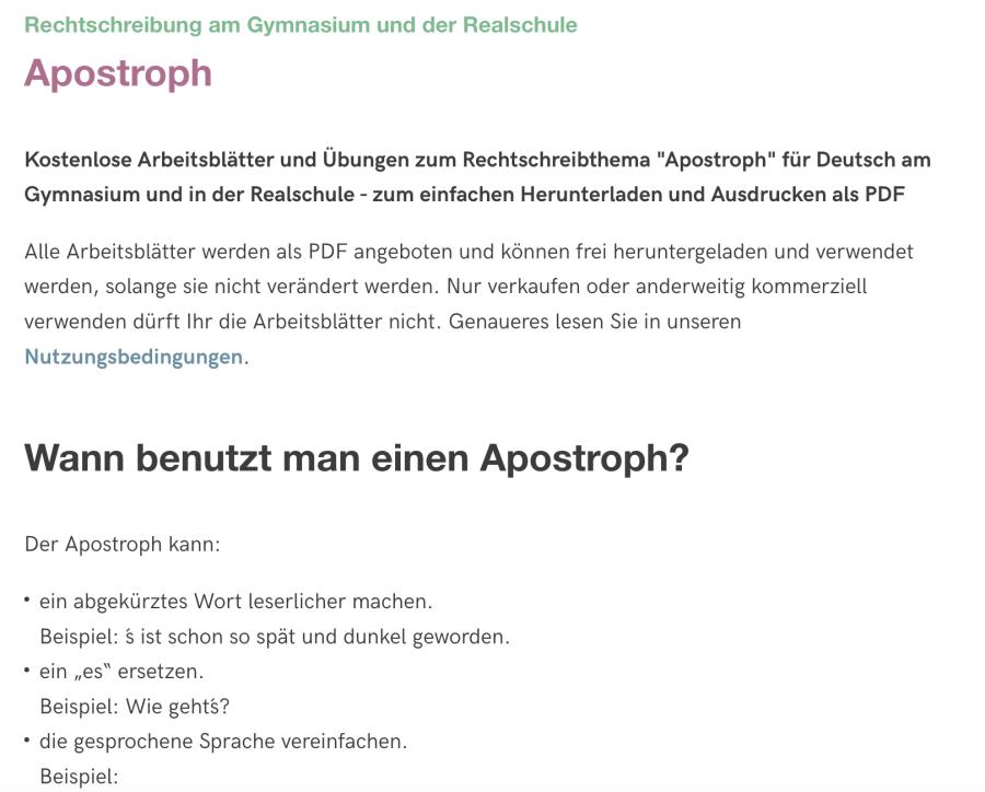 Cover: Apostroph - Übungskönig