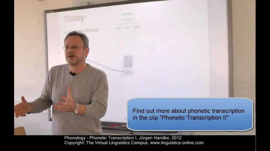 Cover: Phonetic Transcription I