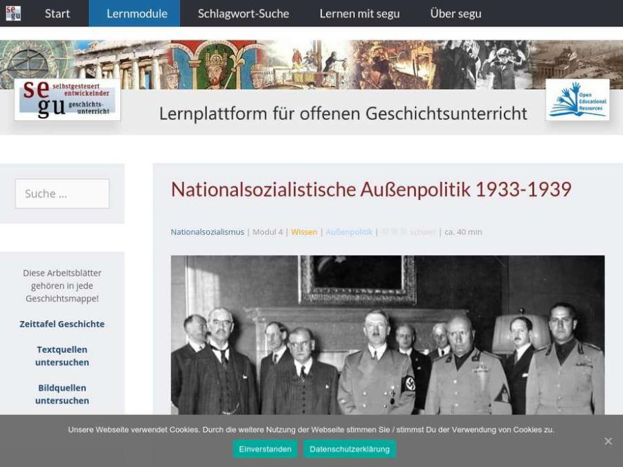 Cover: Nationalsozialistische Außenpolitik 1933-1939
