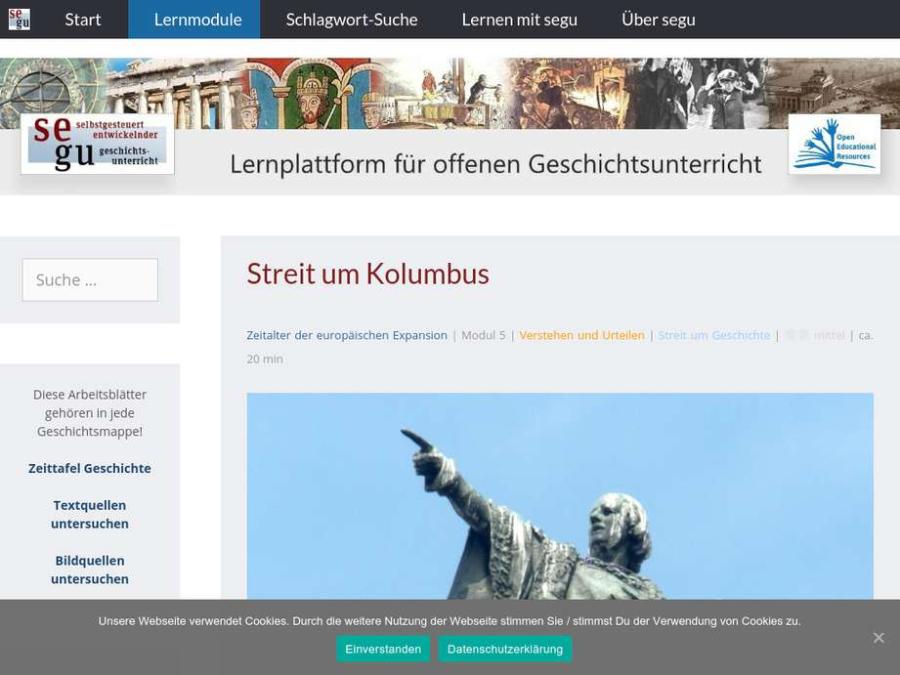 Cover: Lernmodul - Streit um Kolumbus