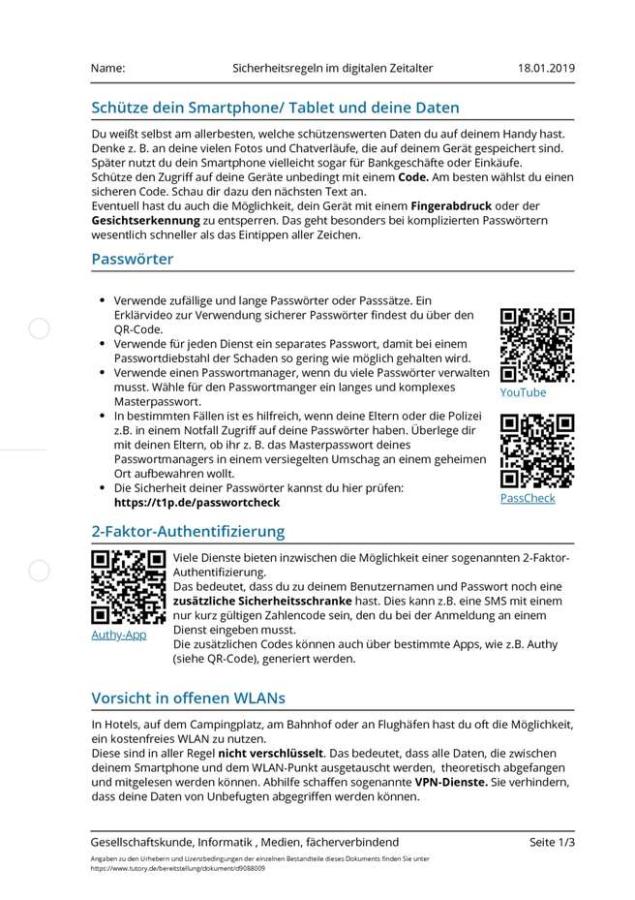 Cover: Sicherheitsregeln im digitalen Zeitalter