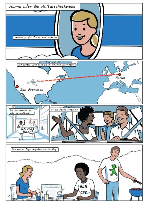 Cover: Arbeitsblatt zum Comic Kulturschockwelle