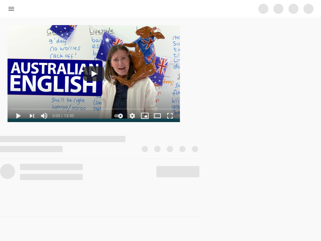 Cover: Australian English video