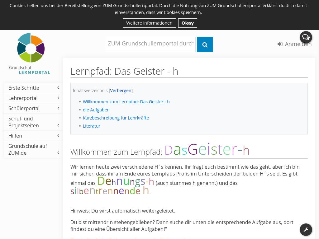 Cover: Lernpfad: Das Geister - h