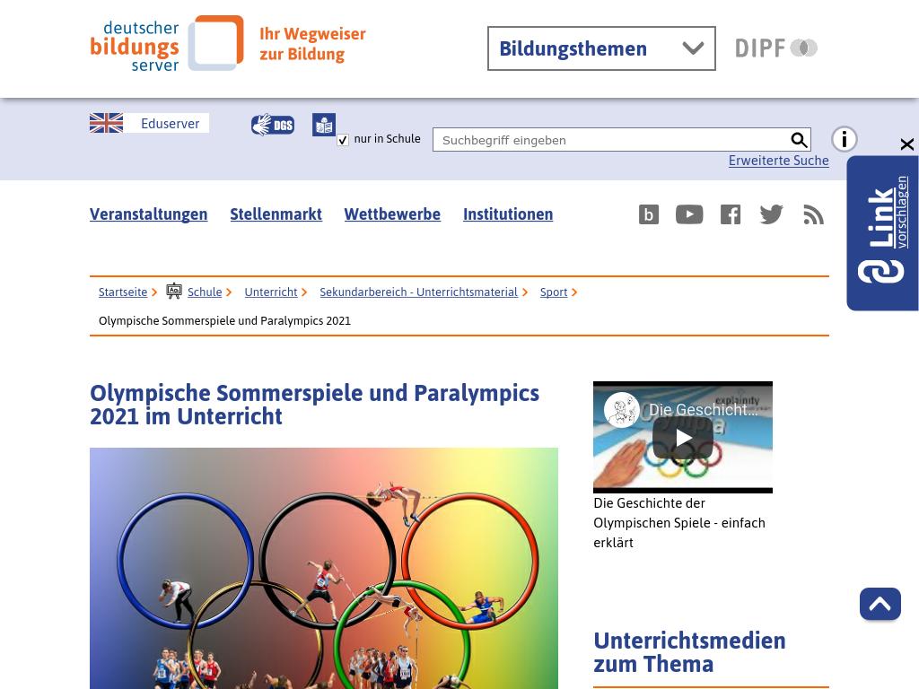 Cover: Olympische Sommerspiele und Paralympics 2021 im Unterricht