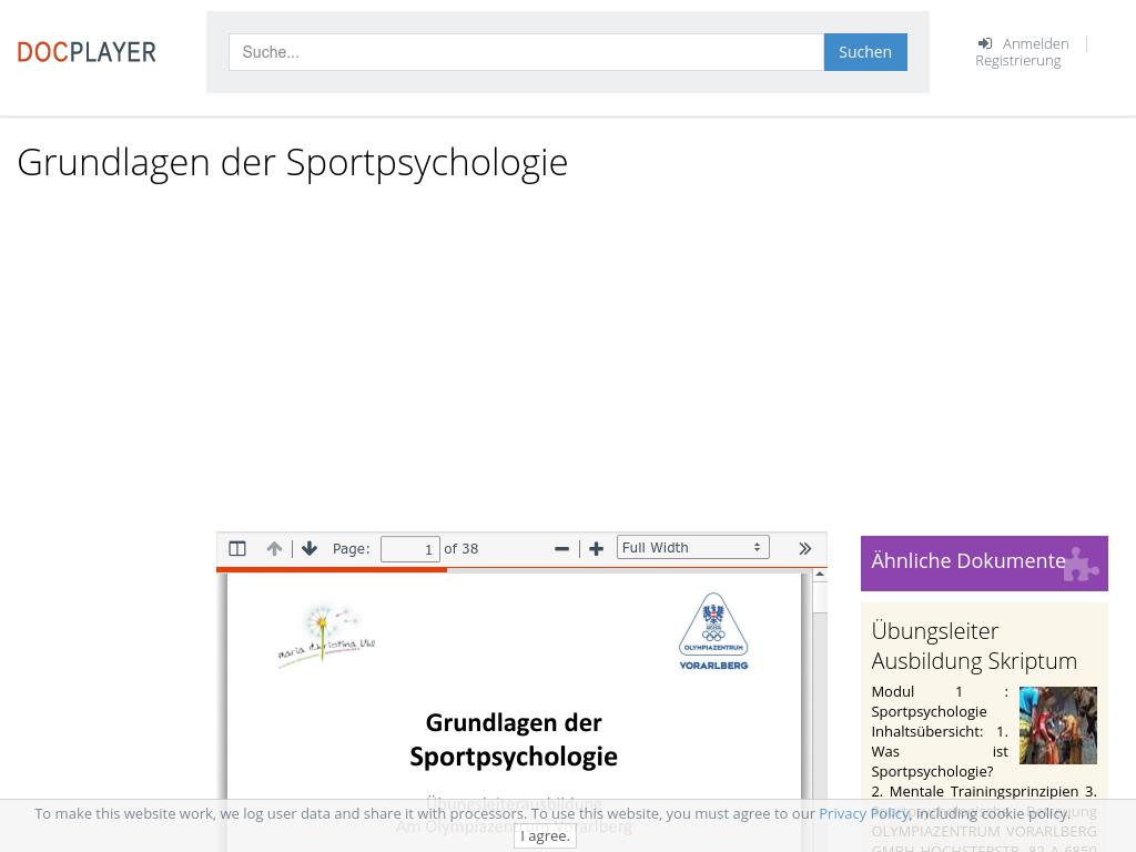 Cover: Grundlagen der Sportpsychologie