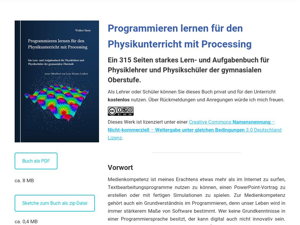 Cover: Steinphysik - Programmieren und Aufgaben für den Physikunterricht