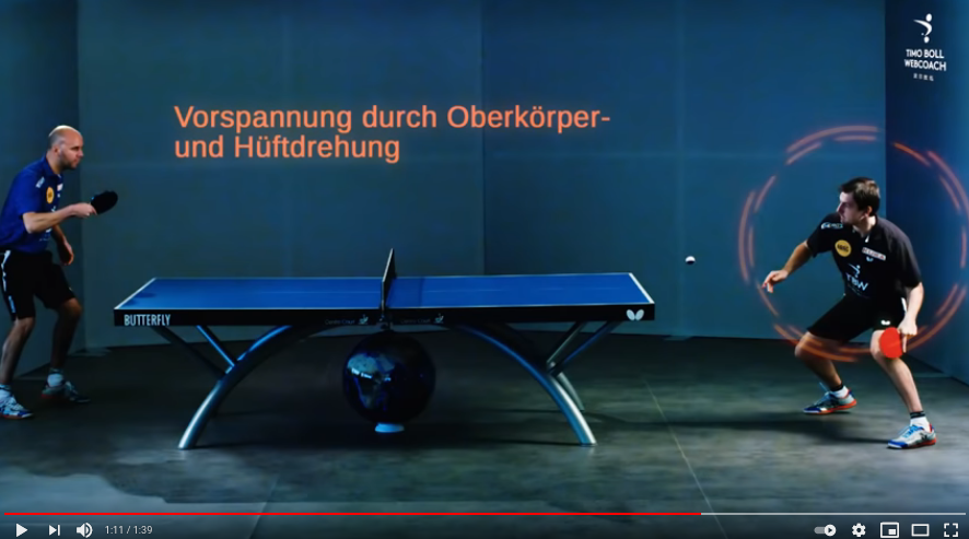 Cover: Timo Boll Webcoach - Anfänger Vorhand Topspin - YouTube