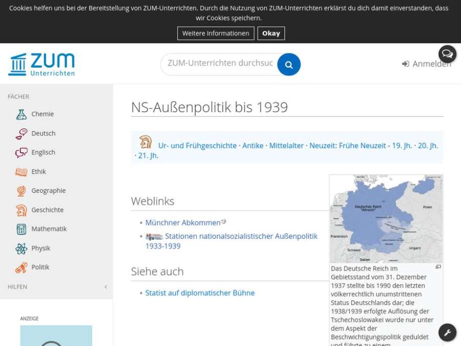 Cover: NS-Außenpolitik bis 1939