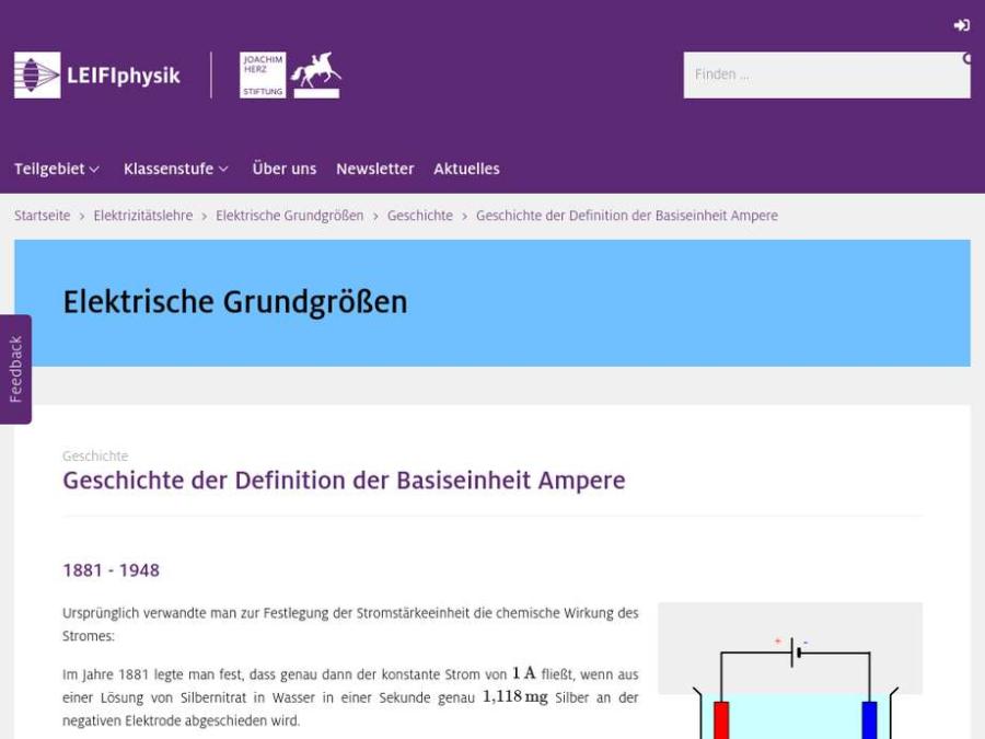 Cover: Geschichte der Definition der Basiseinheit Ampere
