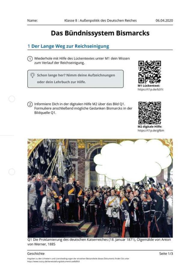 Cover:  Klasse 8 : Außenpolitik des Deutschen Reiches