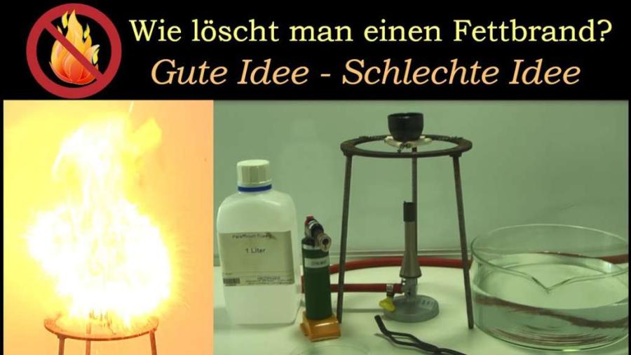 Cover: Fettbrand löschen: Gute Idee - Schlechte Idee