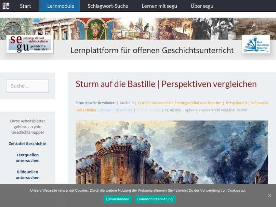 Cover: Sturm auf die Bastille | Perspektiven vergleichen
