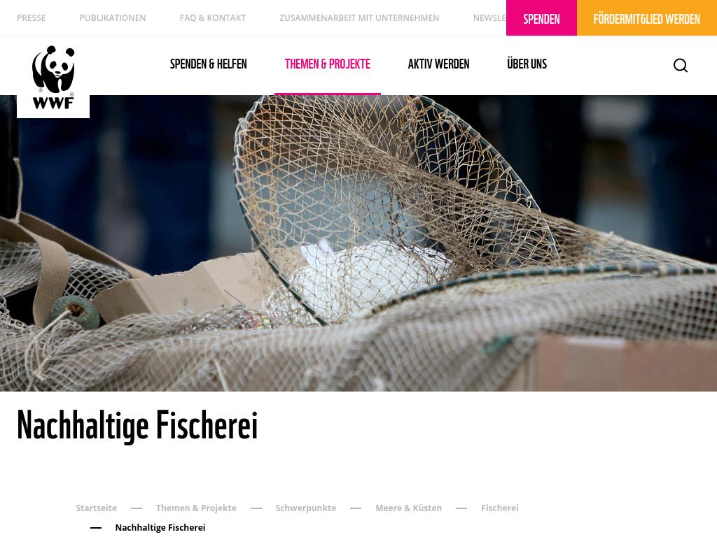 Cover: Nachhaltige Fischerei - WWF