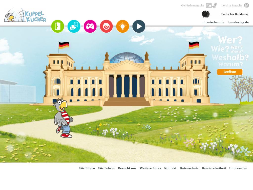 Cover: Kuppelkucker | Das Kinderportal des Deutschen Bundestages