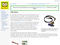 Cover: Klexikon Eintrag USB-Stick