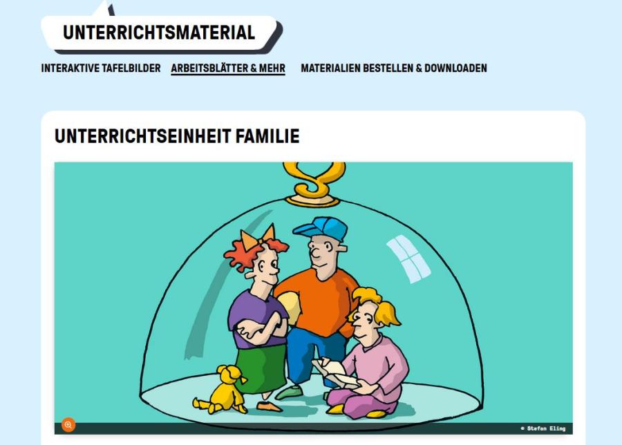 Cover: Unterrichtseinheit Familie