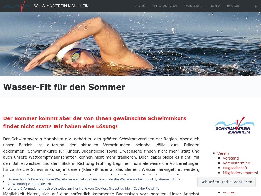 Cover: Wasser-Fit für den Sommer - SV Mannheim