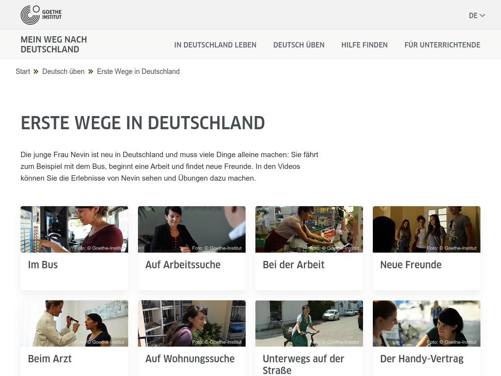 Cover: Erste Wege in Deutschland | Miniserie