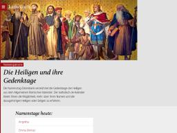 Cover: Die Heiligen und ihre Gedenktage - katholisch.de