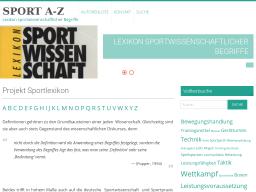 Cover: Sportlexikon Sport A-Z