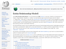 Cover: Entity-Relationship-Modell auf Wikipedia
