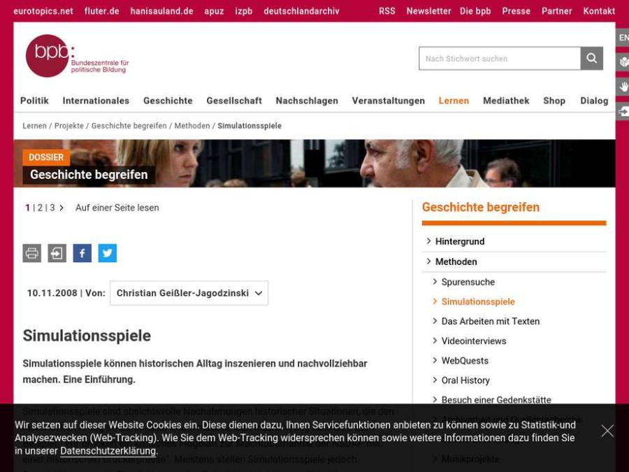 Cover: Simulationsspiele - Dossier Geschichte begreifen