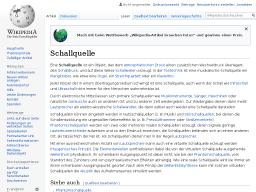 Cover: Schallquelle (Wikipedia)