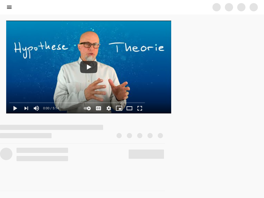 Cover: Hypothese und Theorie Teil 1 - YouTube