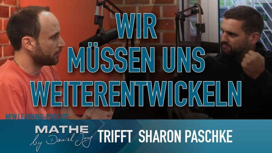 Cover: Talk mit Sharon Paschke (Sportmentor & Persönlichkeitsentwickler) | New Learning Podcast