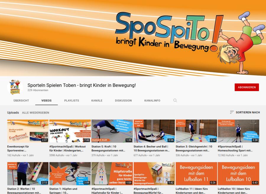 Cover: Sporteln Spielen Toben - bringt Kinder in Bewegung! - YouTube